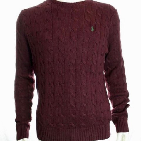 db6b0bff3 Stunning Polo Ralph Lauren cable knit burgundy jumper. A and - Depop