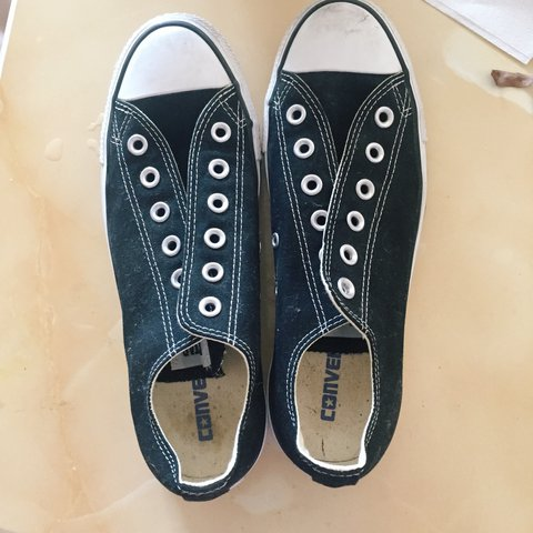 4486c1220149a9 Brand new   never worn All stars Converse black and white   - Depop