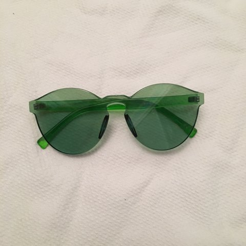 18b25433e1 🍏GREEN SUNNIES 🍏Sour as fuck!! Only worn once. Top half is - Depop