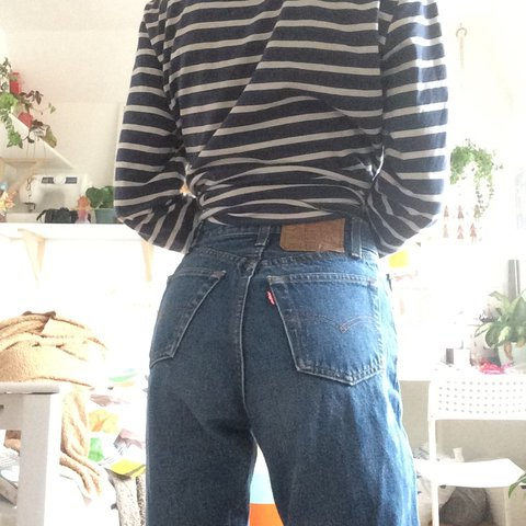 cf0ffbb8 @rubbishproject. last year. Battle, United Kingdom. Classic pair of vintage  Levi 501, straight leg, high waist fit mom jeans.