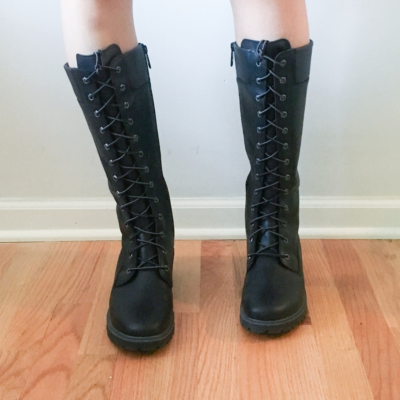 tall lace up timberland boots