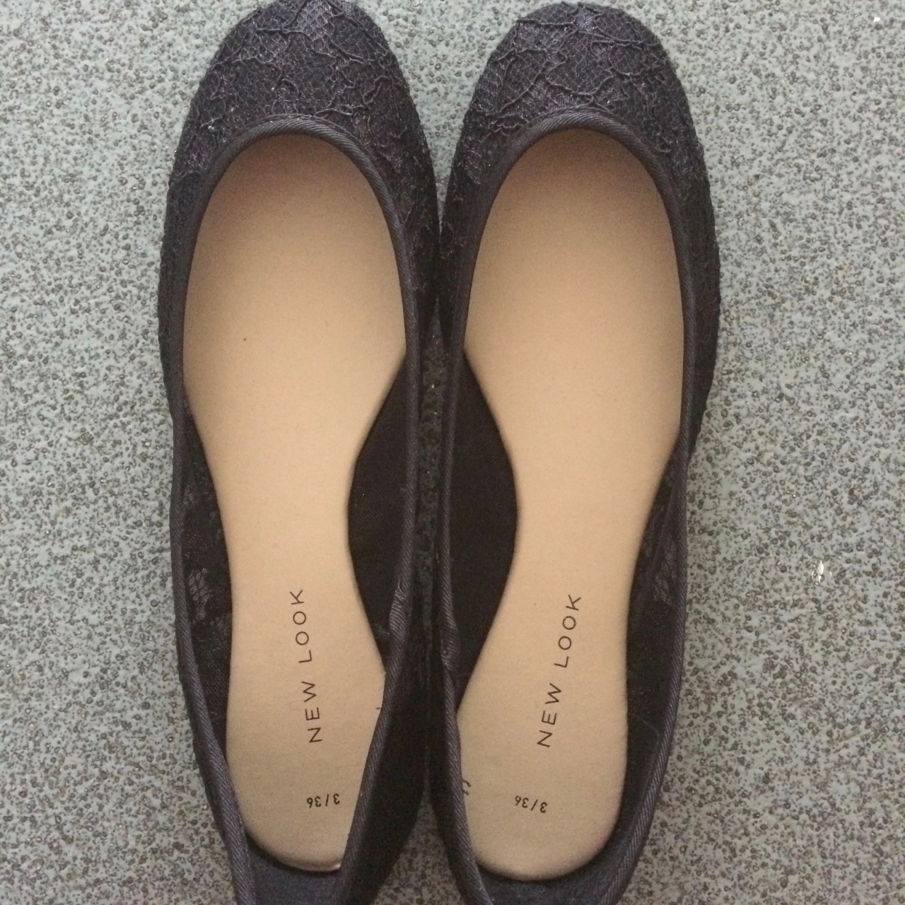 Women's New Look Black Lace Flat Shoes