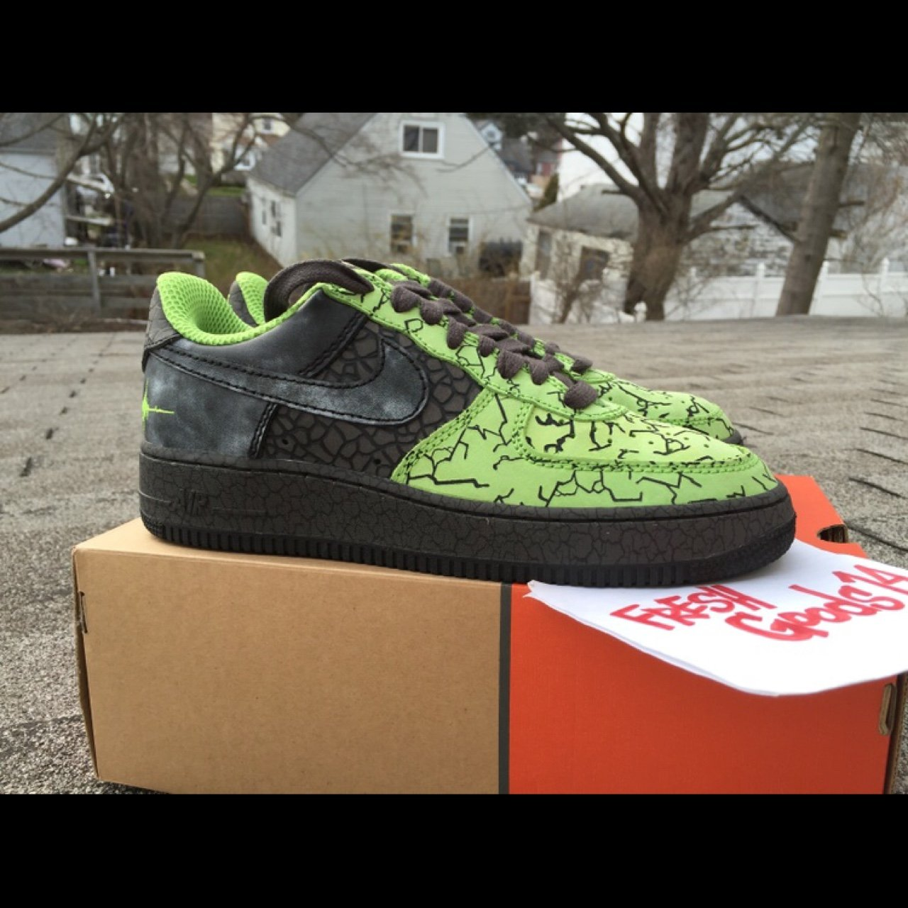 buy online fabf1 27586 2006 release, Nike Air Force 1  03  HUF Quake  in a DS size - Depop