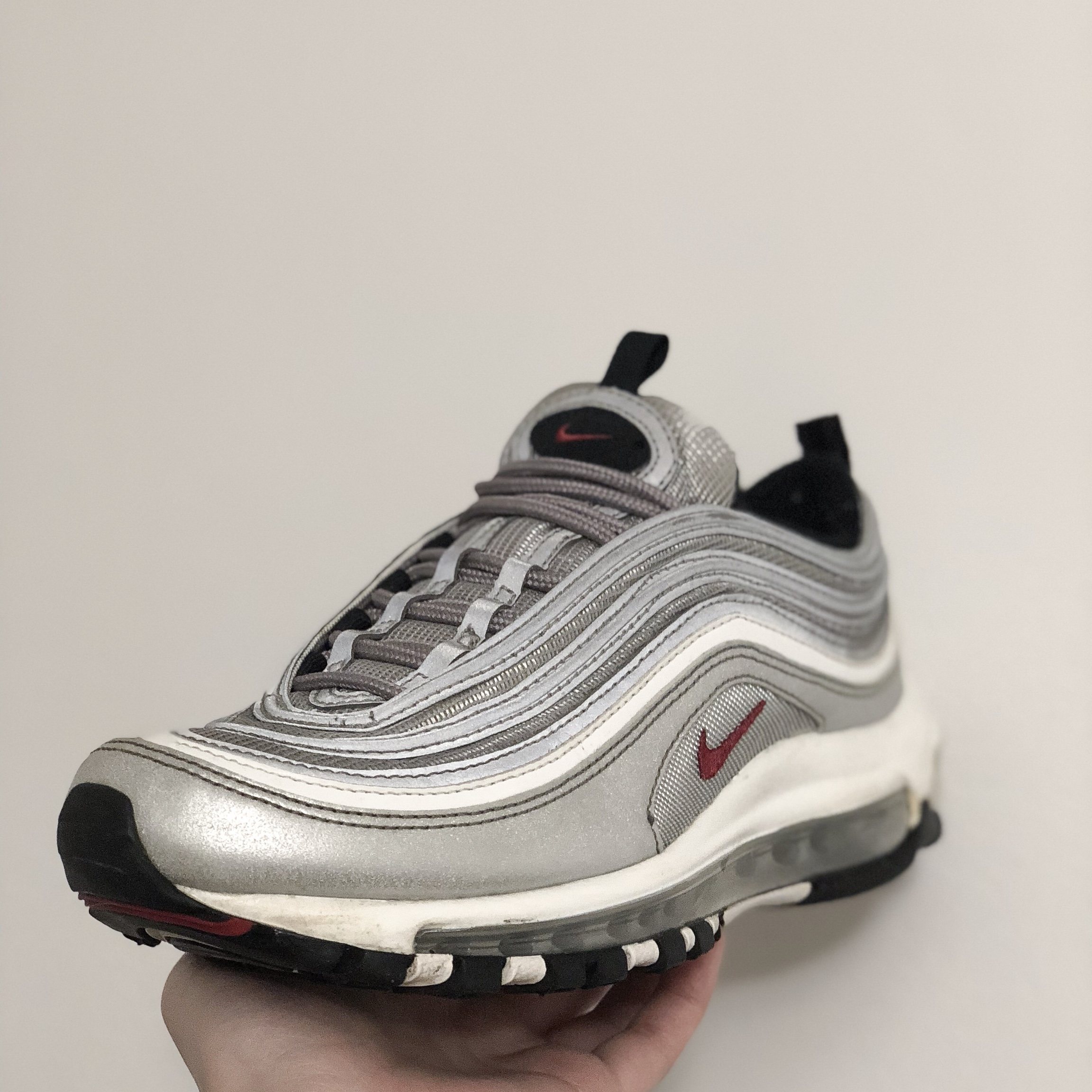 reputable site a83de 0fe26 Nike Air Max 97 (OG Silver Bullet) with original... - Depop