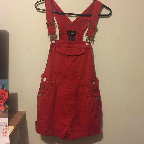 572a942d235 🌶🌶 VINTAGE red overalls from RetroStar Clothing Store a so - Depop