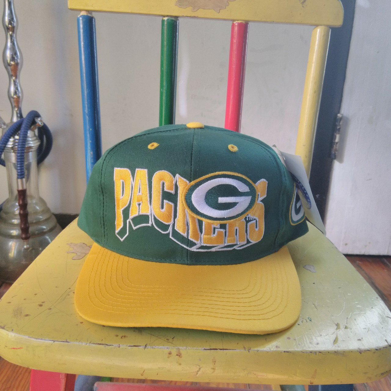 faed81d707f ... uk vintage green bay packers snapback one size fits all in has depop  86d43 c9785