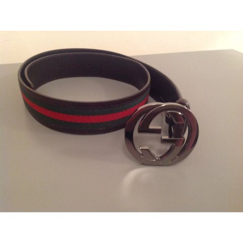 908cea827d0 Gucci Belt Timeless classic Gucci belt with the OG red and - Depop