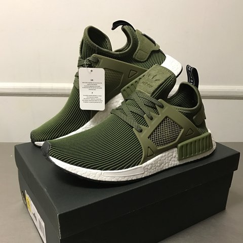 01be246f11834 NMD XR1 Primeknit Adidas Olive Size  US 10 Qty  1pair Local - Depop