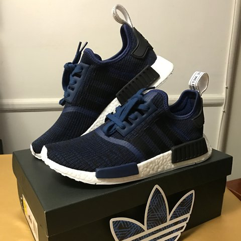 ab6f5ce4948a5 NMD R1 Glitch Adidas Blue Black Mens Size  US 9.5 and 1 pair - Depop