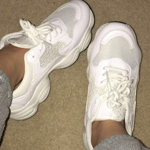 Thing White Chunky Trainers. Size