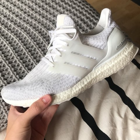 3bd1f01fe Triple white Adidas Ultraboost 3.0 Men size 7 Women size 8 - Depop