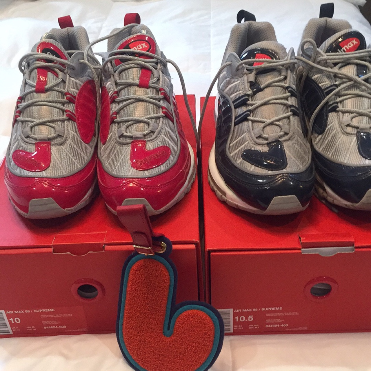 separation shoes 0a3ab 6ee9a Supreme air max 98s red is size 10 US And in 9/10... - Depop