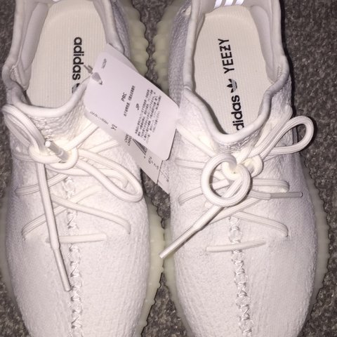 1b8b033e Triple white Adidas Yeezys. Brought directly from Adidas on - Depop