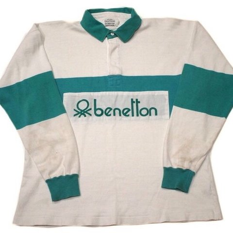 942adb3ae45 @dancheek. 3 months ago. Tunbridge Wells, United Kingdom. VERY RARE 1980's  United colours of Benetton rugby shirt/ ...