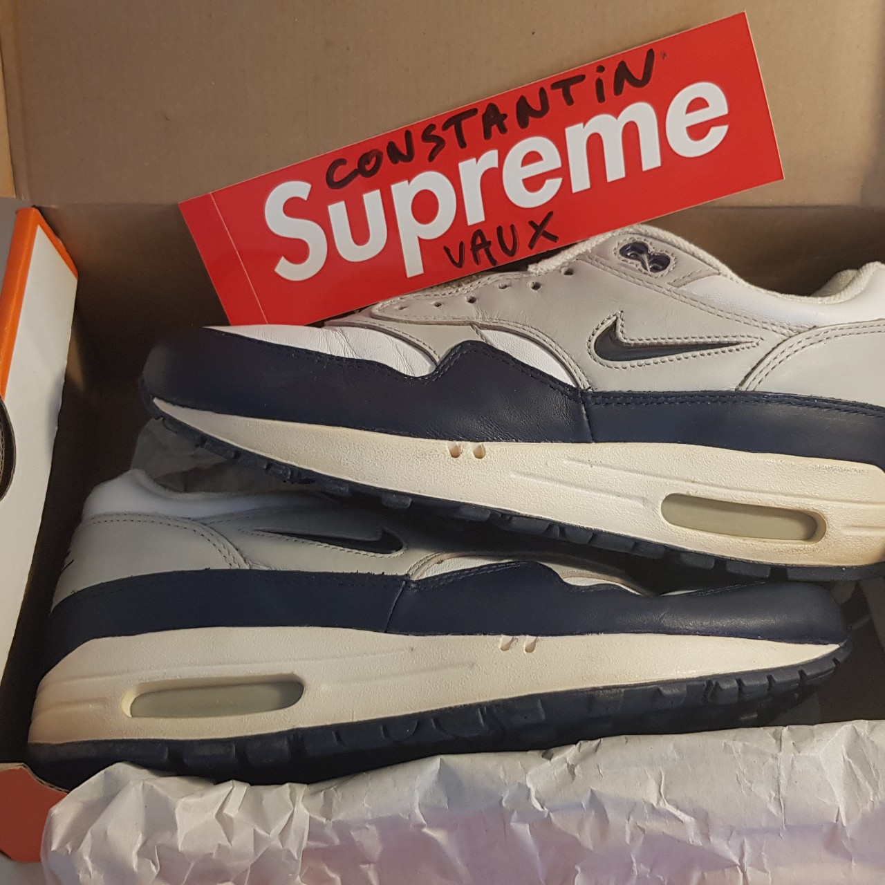 Inmunidad Disparidad contacto  Nike air max 1 jewel og 1998 worn 1 no og box 7.5 us - Depop