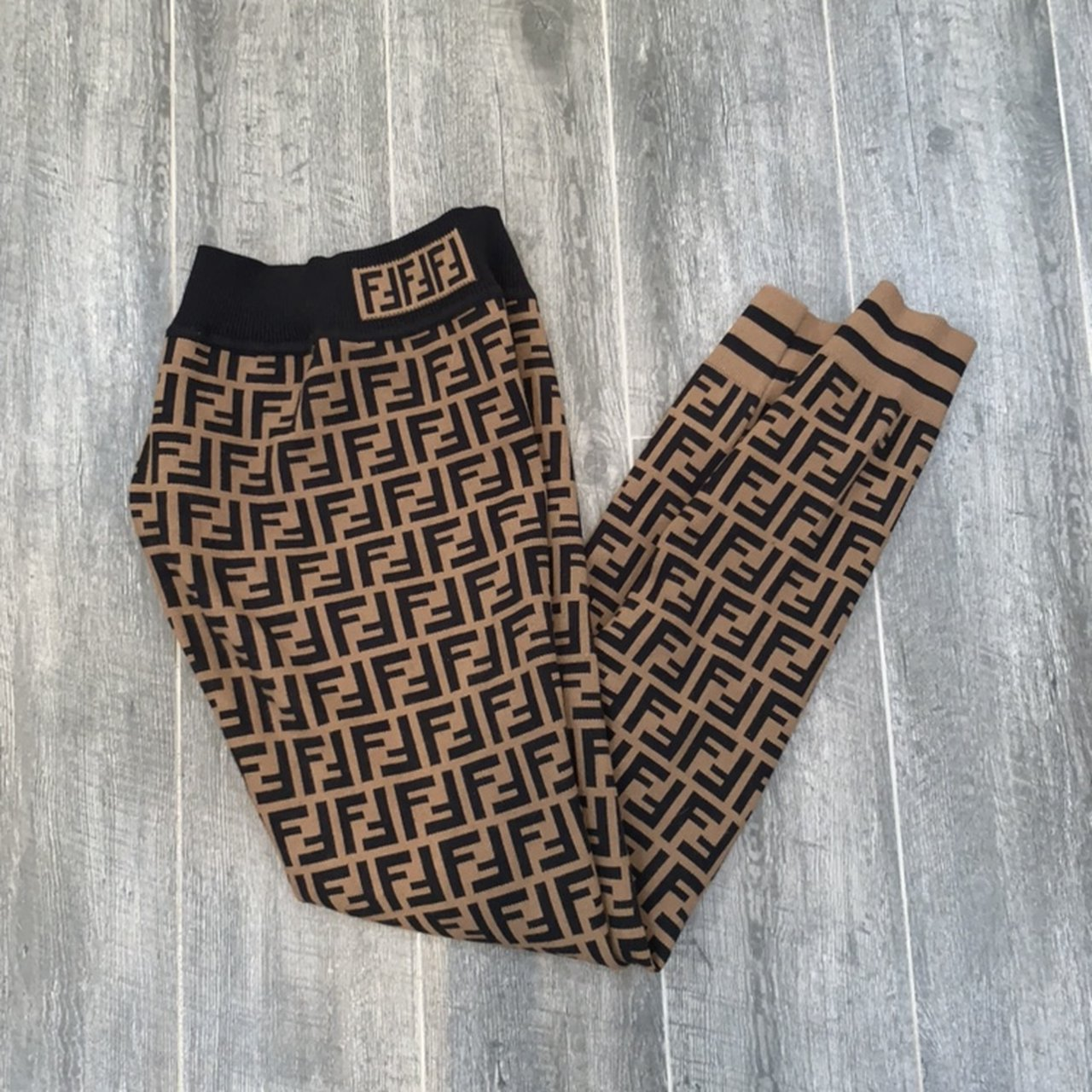 Fendi Knit Leggings Authentic Size 36 0 4 Great Depop