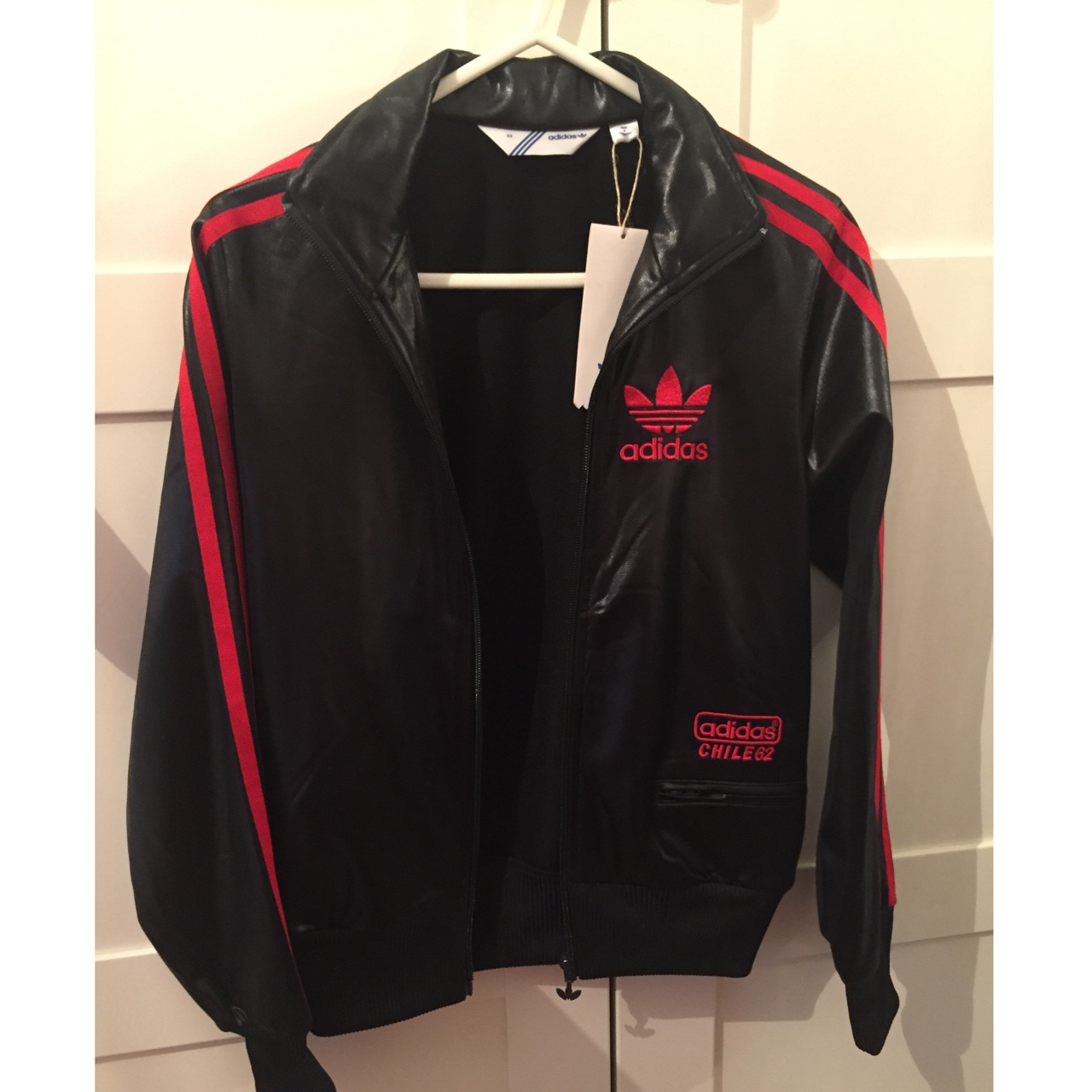Brand new with tags. Adidas Chile 62 black jacket Depop