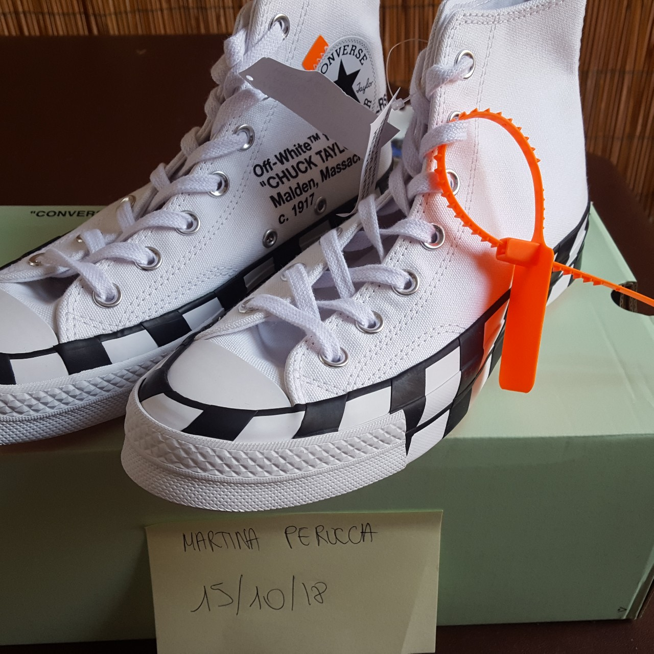 Off White Converse Chuck Taylor All Star 70s Hi. Depop