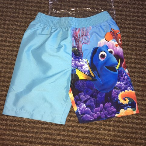 0685c589b Boys swim swimming trunks age 6-7 Disney finding dory new £4 - Depop