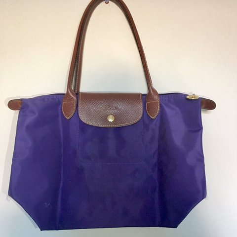 Purple   lilac coloured Longchamp Le Pliage foldable bag an - Depop 832344aa3ea88