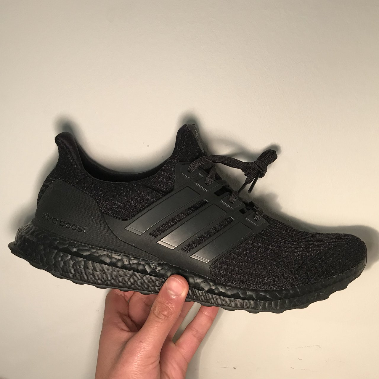 31af8e45d7b05 Adidas Ultra Boost 3.0 Triple Black (v2 2.0) Size 10 UK 9 10 - Depop