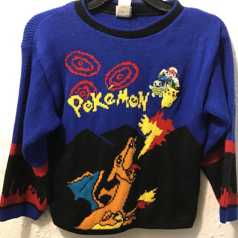 7b345a874801aa 90s Pokémon sweater. Great vintage condition. Women s can As - Depop