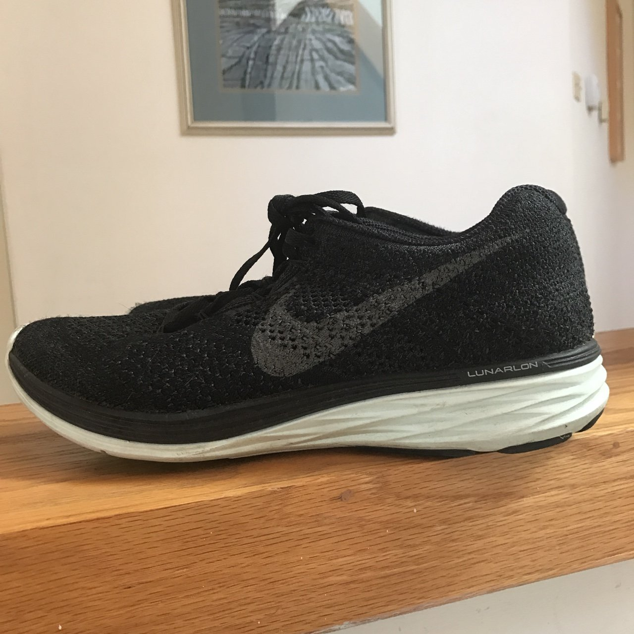 e3ff921a83813 Nearly new Flyknit Lunar s from Nike. Women s US 8. in and - Depop