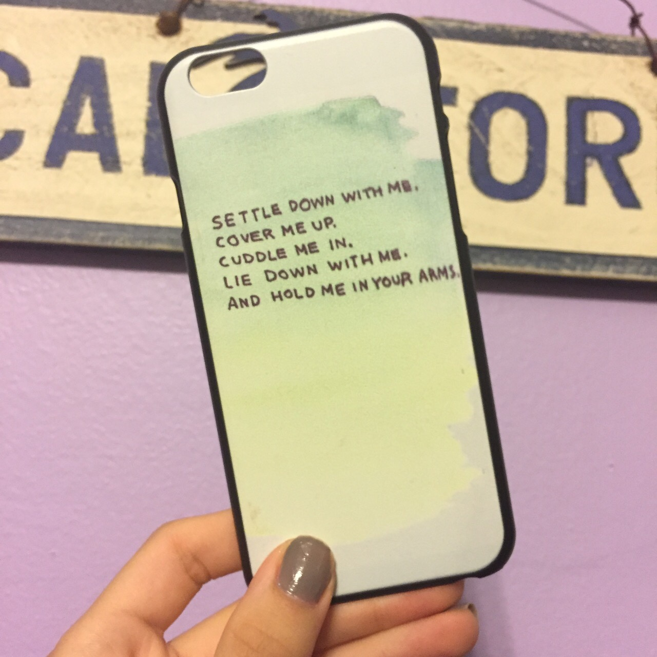 Cute Ed Sheeran lyrics iPhone 6 case  Never used    - Depop