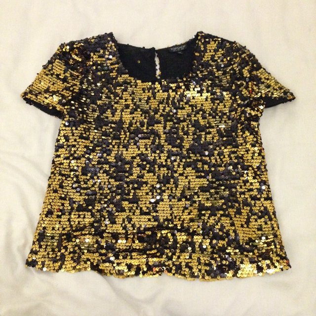 38b30edc @louisebarrie. 5 years ago. Denny, United Kingdom. Topshop sequin top, size  6, never worn but tags ...