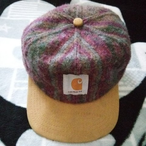 Rare Vintage Carhartt wool adjustable snapback cap made in - Depop 5ebb6e2fcbb