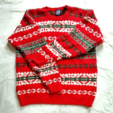 Iconic vintage 100% cotton oversized fair isle knit sweater by The ...