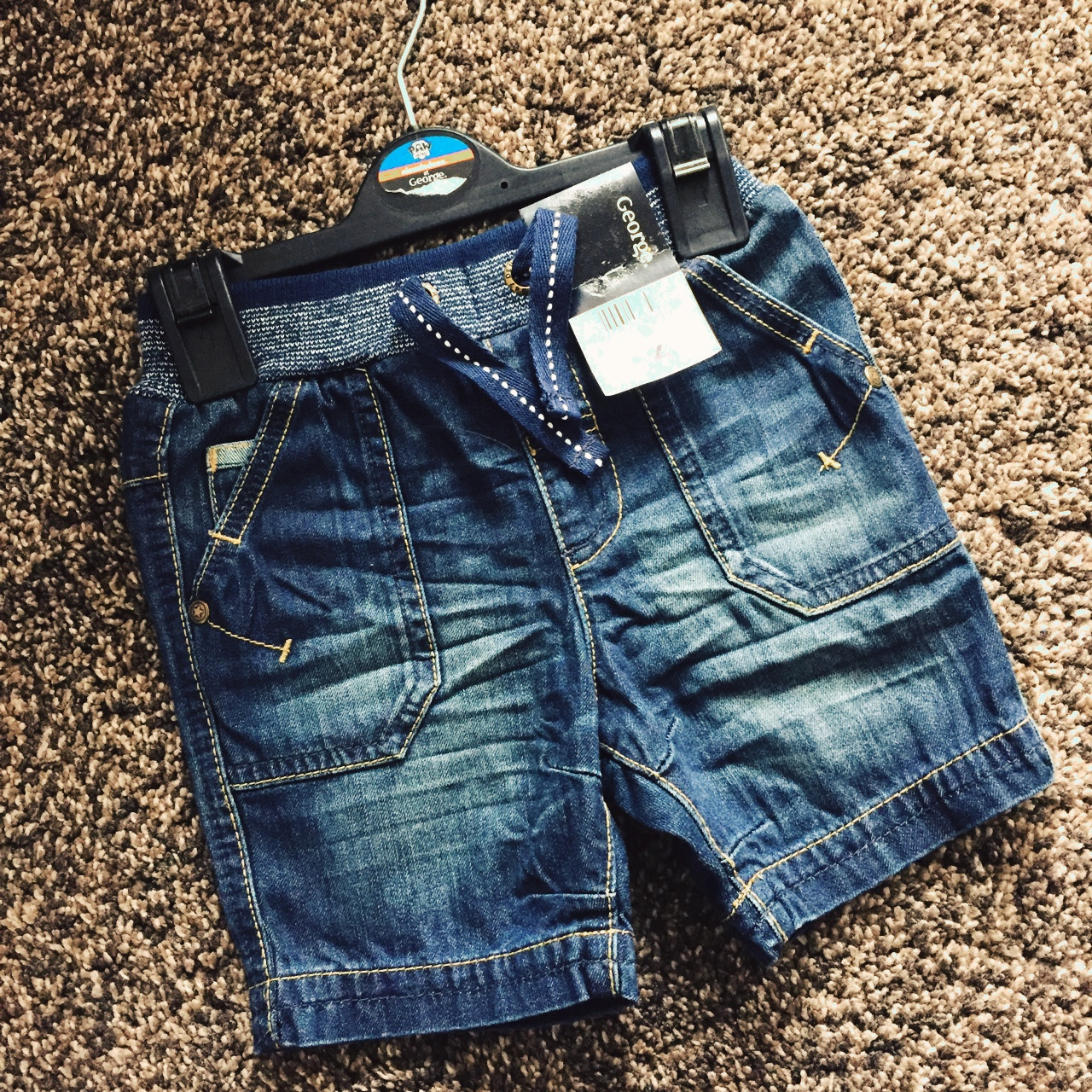 low priced buy cheap exquisite design Baby Boys George @Asda 1 1/2-2 Years denim shorts.... - Depop