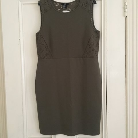 272311c349442 @loulouloved. 10 months ago. London, United Kingdom. H&M green mini dress.  Lace back. Brand new ...