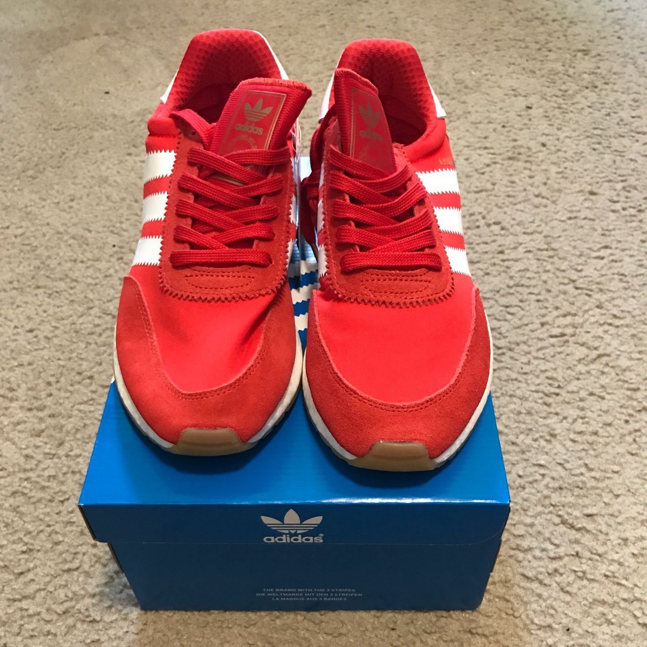 new concept d47de 72438  stefsub. 2 years ago. Columbus, United States. NWT Adidas Iniki Runner red white,  boost ...
