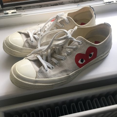 171c89707d92 Play CDG x Converse Chuck Taylor All Star  70 Low Cream size - Depop