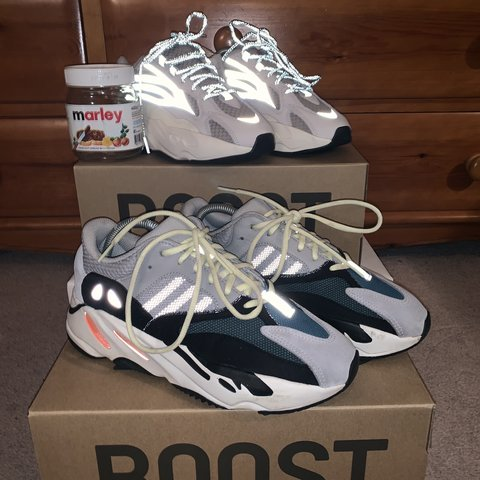 78c7050ff52 Yeezy 700 Wave Runner RETAIL UK 7 Message before buying - Depop