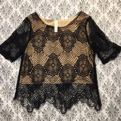 96a2044a18d2 @cynthiaalegre. yesterday. Lancaster, United States. Super cute cropped lace  top!