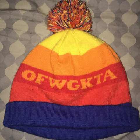 a2683e17581 odd future pom pom striped beanie AUTHENTIC