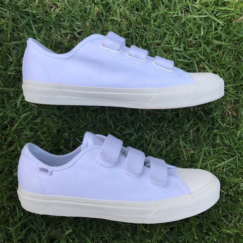 6f566ce482 Vans 23 V Twill Prison Issue Sneakers in White