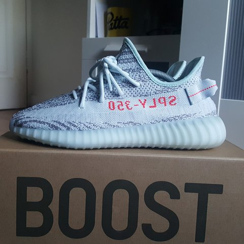 61cffcde9 Adidas yeezy 350 v2 blue tint Worn twice lightly just a to - Depop