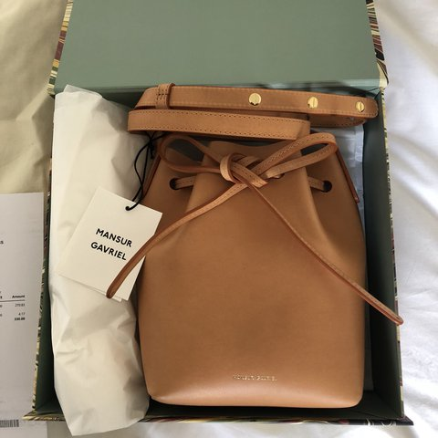 6f1aaf6e52026 Brand new authentic Mansur Gavriel Mini Mini Bucket Bag in - - Depop