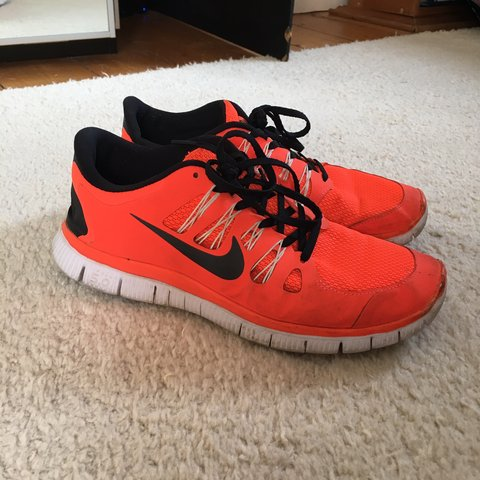 8f96ca6e735a Nike free run • UK size 9 Condition 7 10 Bright orange for - Depop