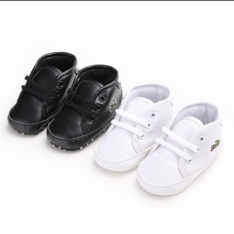 b888b634e6c1 Lacoste inspired baby booties. Available in white or black. - Depop