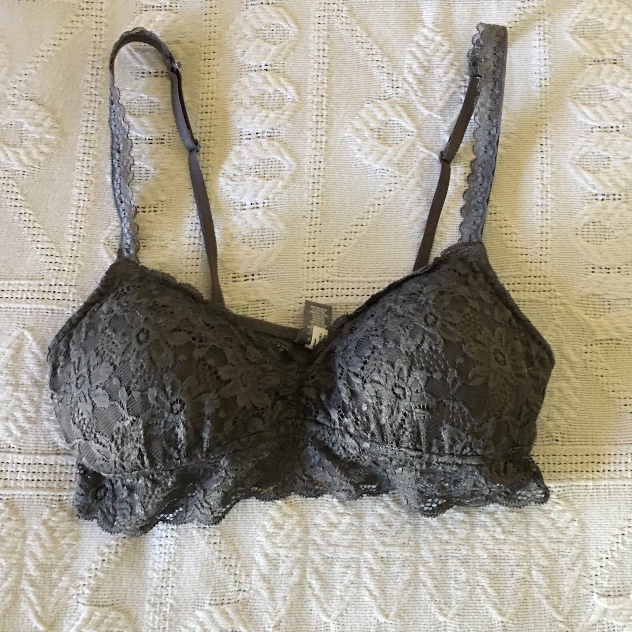 1aa69934be3b1 the cutest darker gray lace padded bra from Aerie