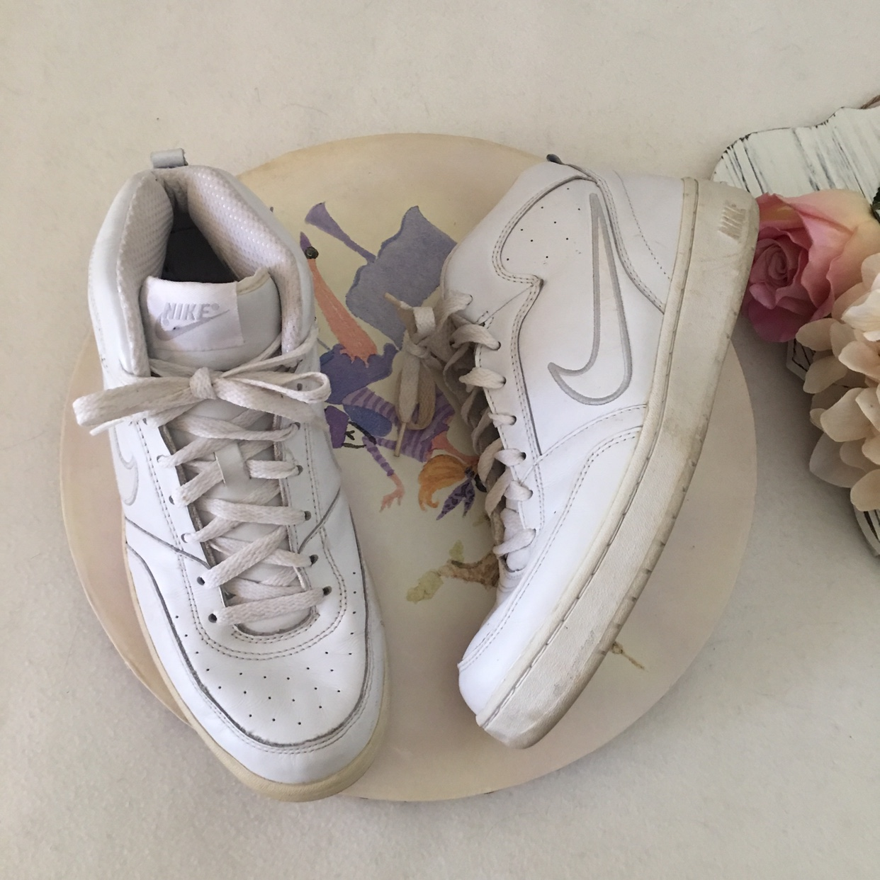 Vintage Nike basketball shoes. These are super cute Depop