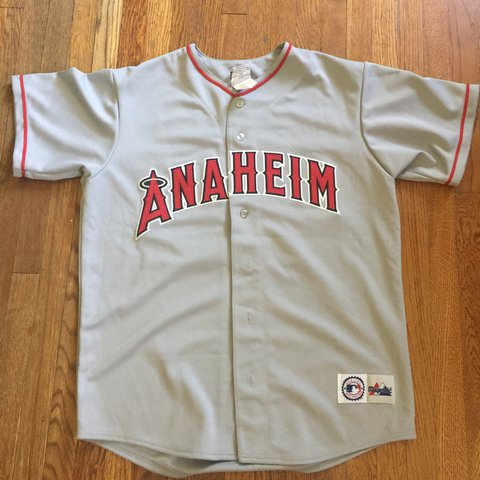 e82fa410748 Anaheim Angels Garret Anderson majestic Jersey has a minor - Depop