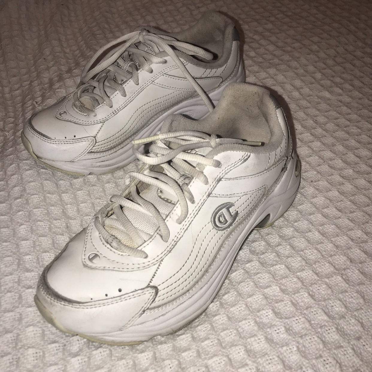 Vintage Champion Recoil sneakers in white and , Depop