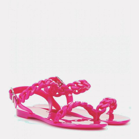 8c4a71f19c5d Brand new and unworn jelly chain sandals Givenchy Pink - Depop