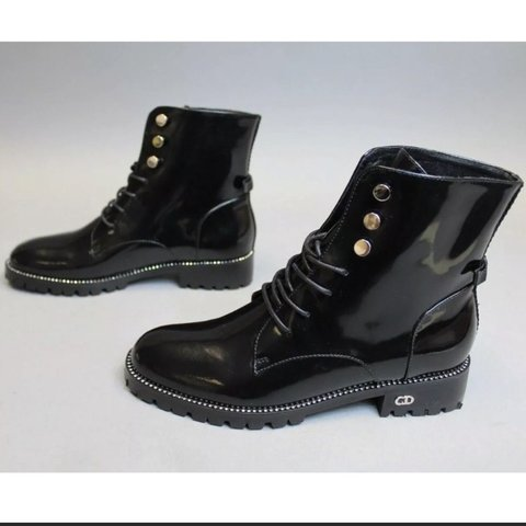 15073bd27 @ruwiee. 3 months ago. Cedar Creek, United States. Christian Dior Rebelle  Army Patent Boots These are timeless ...