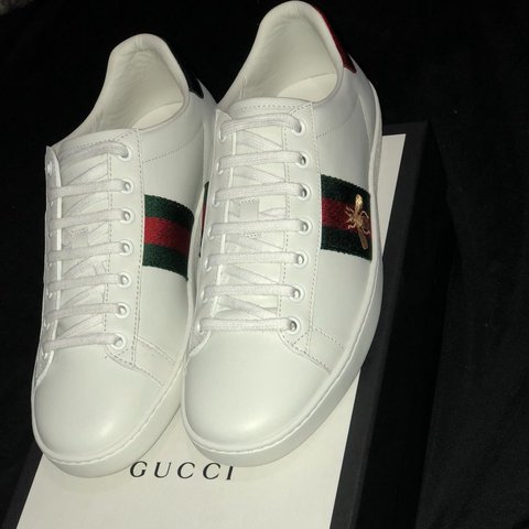a5bee213a3f Almost NEW Gucci trainers size 6. Ace Bee design. I bought - - Depop